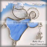 Baby Boy's Angel Guardian tiffany style stained glass angel wall hanging for christmas decoration hanging ornament