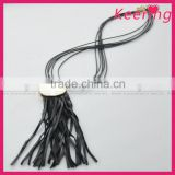 wholesale fringe leather tassel necklace for garment accessory