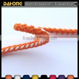 4mm mixed color polyester multifilament diamond braided cord by hand