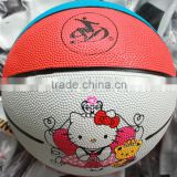 hello kitty colorful rubber kids mini size 3 basketball