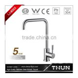 Deck mounted stainless steel 304 sink mixer faucet