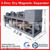 tin/tungsten/coltan/iron ore enrichment machine, 3pcs disc belt type dry magnetic separator