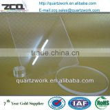 Best Selling Clear Large Quartz Glass Round Sheet Thin Fused Silica Discs