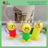 Wholesale educational toy smiling face plastic spring doll toy With key ring