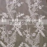 new arrival high quality cotton flower tulle lace fabric wholesales for wedding dress bridal gowns