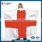 Adult England English National Flag, Body Fan Cape, English Flag Cape