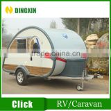 Teardrop type fiberglass mini caravan travel trailer caravan                                                                         Quality Choice