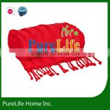 SZPLH 2013 New Style Chunky Knit Throw With Beautiful Fringe