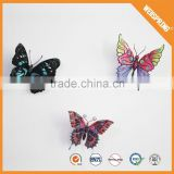 Popular 3d glitter butterfly home wall sticker living room