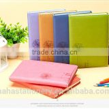 2016 custom top quality pu leather promotional embossed cover hardcover daily notebook with pen for gift                                                                         Quality Choice