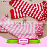 Lovely Stripe Valentines Day fashion Wholesale baby leg warmers Infant legwarmers
