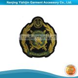 China Wholesale Custom Embroidered Bullion Wire Blazer Badges