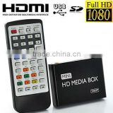 Mini full hdd media player 1080p hdmi input adversiting media player h.264 3d blue-ray portable media player
