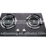Build in glass infrared gas stove-double burner