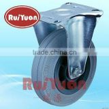 Fixed Standard industrial gray rubber wheels and castors