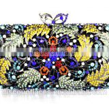 Luxcury evening clutch bag with high quality crystal for Ladies Bridal Clutch Bags