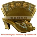 2016 design Italian women shoes and bag set for your aso ebi/African shoes and bag set for church