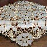 banquet table cloth , flower decorative table cloth , embroidered table cloth