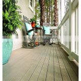 cheap hollow interlock engineered deck outdoor floor tile/Plastic wood flooring engineered