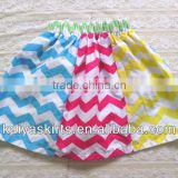 Hotsale adorable multicolour chevron over hip skirt for girls,Mini zig zag chevron skirt for girls