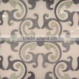 flower water jet marble pictures of tiles in wall, fancy marble waterjet, water jet marble