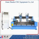 New Style Two Z-Axis 5.5KW Big Power Spindle CNC Engraving Machine For Stone Tombstone ZK-1325 1300*2500MM DSP Offline Control