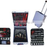 home used/household hand tools 186pcs hand tool set in aluminium case/combination hand tools