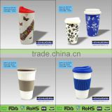 11oz color rim color handle sublimation ceramic mug with printing effect