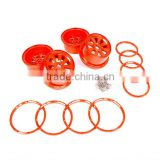 1/5 scale RC car alloy super star wheel with beadlock ring and screws for rovan terminator