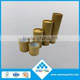 custom design plain brown kraft paper tube no printing packaging for cosmetic bottle, oil bottle, lip balm