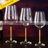 Gold Stem Bohemia Crystal Glass Wine Glass Set Cup