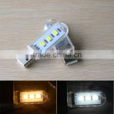 3 LEDs SMD5730 Mini Book lights USB LED lamp