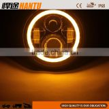 Motorcycle 7 Inch Headlight LED Headlight Angel Eye H4 H13 Harness,Halo HeadLamp For Harley Davidson HT-G08A40