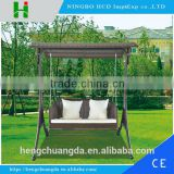 two or three seat outdoor garden/patio wicker hanging swing chair