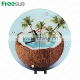 Fashion wholesale L300*H300*W5mm toughened sublimation glass digital clock