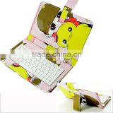 color print universal pu leather phone case with keyboard for iphone for Xiaomi Redmi mi mione note pro 1 2 3 4 5 8 S A C