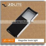 Magnifier book light led extebsible reading light great idea for reading in dark