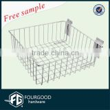Supermarket Equipment Metal Storage Basket/Wire Basket For Hanging