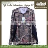 True Adventure TA1-007 S-XXXL 100% Polyester Outdoor Woodland T-shirt Camo Button Blank T Shirt