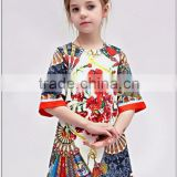 New Arrivals Fashion 2015 Half Sleeves Embroidery Cotton Girl Dress Brand Kids Party Wear Dresses For Girls Dresses Children
