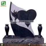 Black Granite Flower Vase Headstone