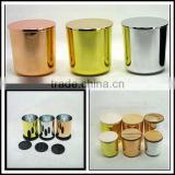plating copper glass candle jars votive candle holders with lids