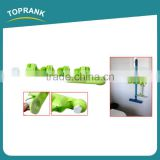 Toprank Plastic 3-Position Garage Closet Kitchen Tool Organizer Wall Mounted Mop Broom Holder Organizer With Sucker