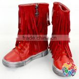 Fashion Style Kids Girls Hard Soled Add Cashmere Anke Moccasin Kids Winter Warm Boots