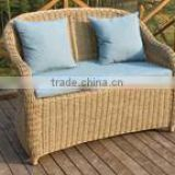 outdoor rattan single chair with cushion