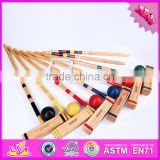 2016 Outdoor or indoor children 6 group of wooden professional croquet W01A169