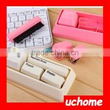 UCHOME Novelty office customized mini keyboard stapler stationery set in 2016