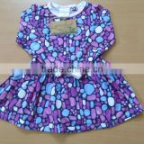 2017 Summer Organic cotton New Infant Dress With Sleeveless Girls cute baby Dresses Fashion organic Cotton Baby Kids Clothes