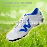 classic new style football shoes have spike to play soccer ball for american or english