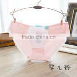 Women's cheap cute cotton lace hipster panty pants young girls cotton briefs